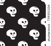 seamless pattern with black and ... | Shutterstock .eps vector #739551334