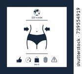 women waist  weight loss  diet  ... | Shutterstock .eps vector #739554919