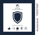 shield  protection icon | Shutterstock .eps vector #739557049