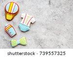 cook gingerbread cookies for... | Shutterstock . vector #739557325