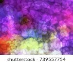 abstract bokeh circles blurred... | Shutterstock . vector #739557754