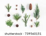 christmas composition.... | Shutterstock . vector #739560151