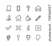 info icon set. collection of... | Shutterstock .eps vector #739560457