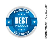 best product badge with silver... | Shutterstock .eps vector #739562089