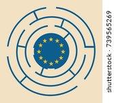 flag of the european union in... | Shutterstock .eps vector #739565269