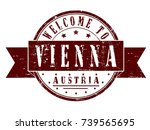 """rubber stamp """"welcome to vienna ... 