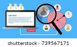 target customers vector banner...   Shutterstock .eps vector #739567171
