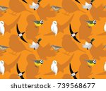 random european birds wallpaper ...   Shutterstock .eps vector #739568677