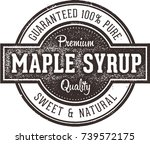 vintage pure maple syrup label | Shutterstock .eps vector #739572175