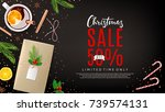 christmas promo web banner with ... | Shutterstock .eps vector #739574131