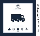 delivery car icon | Shutterstock .eps vector #739574161