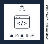 code editor icon | Shutterstock .eps vector #739574365