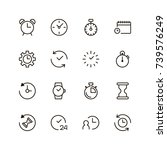 clock icon set. collection of... | Shutterstock .eps vector #739576249