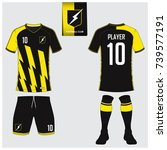 soccer jersey or football kit ... | Shutterstock .eps vector #739577191