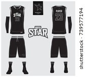 basketball jersey  shorts ... | Shutterstock .eps vector #739577194