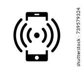 phone icon. ringing  vibrating... | Shutterstock .eps vector #739579324