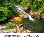 waterfall holiday | Shutterstock . vector #739579729