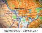washington on the map   Shutterstock . vector #739581787