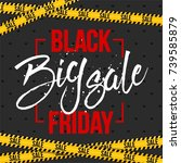 abstract vector black friday... | Shutterstock .eps vector #739585879