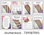 abstract vector layout... | Shutterstock .eps vector #739587091