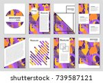 abstract vector layout... | Shutterstock .eps vector #739587121