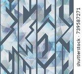 diamond seamless pattern with...   Shutterstock .eps vector #739587271