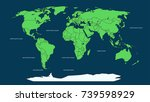 world map infographic layout.... | Shutterstock .eps vector #739598929
