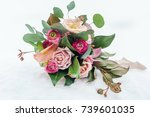 wedding bouquet | Shutterstock . vector #739601035