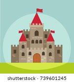 castle vector illustration   Shutterstock .eps vector #739601245