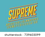 vector of stylized bold font... | Shutterstock .eps vector #739603099