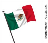mexico flag. mexico icon vector ... | Shutterstock .eps vector #739603321