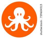 illustration of octopus orange... | Shutterstock .eps vector #739604515