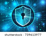 concept of cyber security.... | Shutterstock .eps vector #739613977