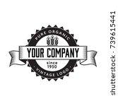 vintage cereal logo badge. flat ... | Shutterstock .eps vector #739615441