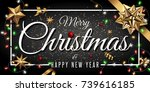 merry christmas and happy new... | Shutterstock .eps vector #739616185