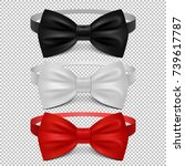 realistic white  black and red... | Shutterstock .eps vector #739617787