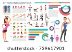 physical activity  fitness and... | Shutterstock .eps vector #739617901