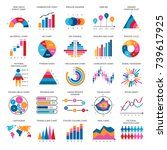 Business Data Graphs. Vector...