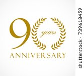 90 years old luxurious logotype.... | Shutterstock .eps vector #739618459