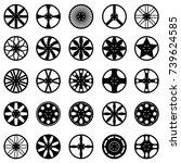 car wheel icon set | Shutterstock .eps vector #739624585