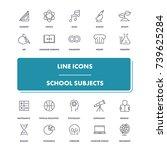 line icons set.  school...