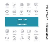 line icons set. banking pack....