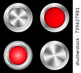 set of buttons for game ... | Shutterstock .eps vector #739627981