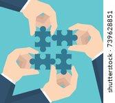 businessman hands  holding... | Shutterstock .eps vector #739628851