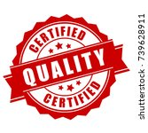 certified quality business... | Shutterstock .eps vector #739628911