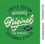 original vintage textured hand... | Shutterstock .eps vector #739633735