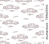 taxi pattern. design for... | Shutterstock .eps vector #739635541