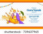 illustration of happy gurpurab  ... | Shutterstock .eps vector #739637965