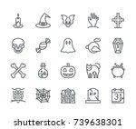 halloween icons  monoline...
