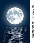 illustration of full moon and... | Shutterstock . vector #73963945